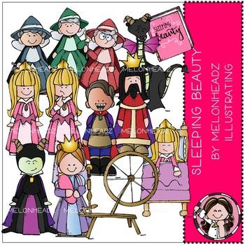 Sleeping Beauty clip art - COMBO PACK - Melonheadz Clipart