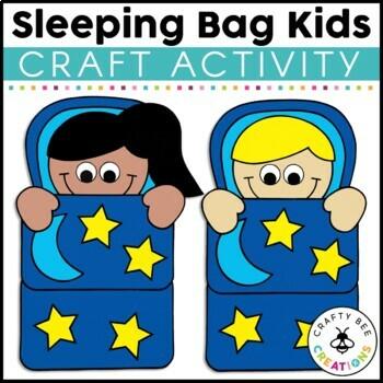 Sleeping Kids Cut and Paste