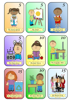 Sleeping Students Math Card Game