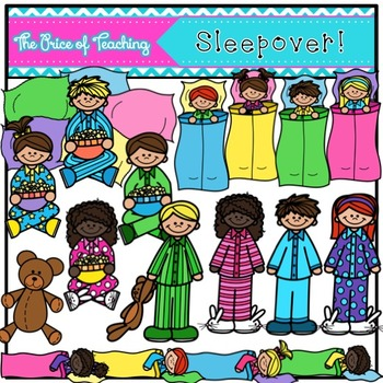 Sleepover Clipart Set