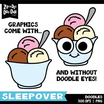 Sleepover Doodles Clipart Set {Zip-A-Dee-Doo-Dah Designs}