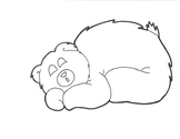 Sleepy Bear Color Worksheet