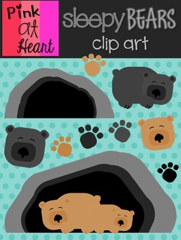 Sleepy Bears Clip Art