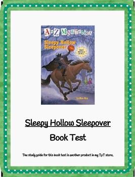 Sleepy Hollow Sleepover A-Z Mysteries Book Test