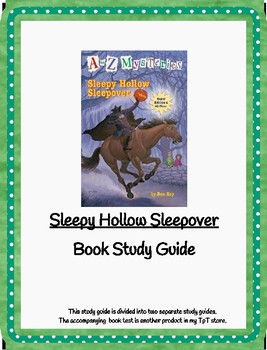 Sleepy Hollow Sleepover A-Z Mysteries Study Guide