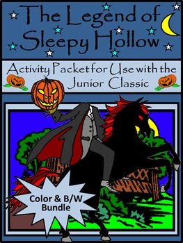 Sleepy Hollow Halloween Activity Packet Bundle - Color & B/W Versions