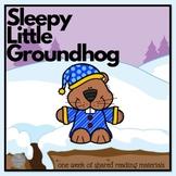 Sleepy Little Groundhog A Week of Shared Reading Materials