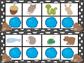 Sleepy Sounds:  LOW PREP Animals In Winter Themed Play Dough Mats