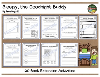 Sleepy the Goodnight Buddy by Daywalt 20 Book Extension Activities NO PREP