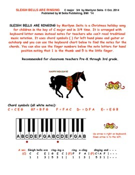 Sleigh Bells Are Ringing - Christmas song  uses letter nam