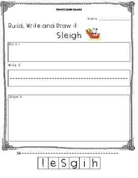Sleigh- Build it, Write it, Draw it