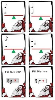Sleigh Dash (Christmas musical notation note value game)