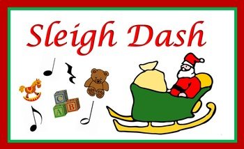 Sleigh Dash (Christmas musical notation note value game)