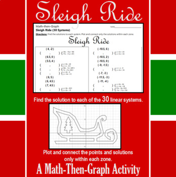 Sleigh Ride - A Math-Then-Graph Activity - 30 Systems