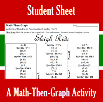 Sleigh Ride - A Math-Then-Graph Activity - Finding Vertices