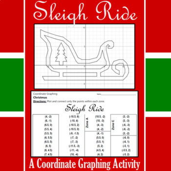 Christmas - Sleigh Ride - A Coordinate Graphing Activity