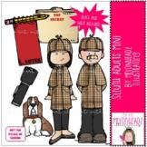 Sleuth Adults clip art - Mini - by Melonheadz Clipart