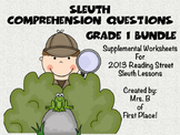 Sleuth Comprehension Worksheets 2013 Reading Street Grade