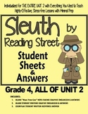 Gr. 4, Reading Street, Sleuth Lesson Plans & Student Sheets for ALL of Unit 2