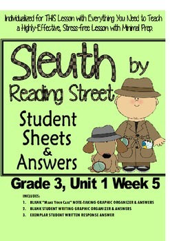 Sleuth Reading Street, Gr. 3 Unit 1 Wk 5, My Rows and Pile