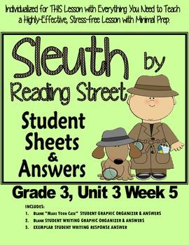 "Sleuth Reading Street Gr 3. Unit 3 Wk 5 ""Backyard Safari"" Around One Cactus"