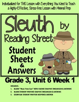 Sleuth Reading Street, Gr. 3 Unit 6 Wk 1, The Story of the