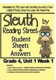 Sleuth, Reading Street, Gr. 4 Unit 1 Wk 1, Because of Winn-Dixie