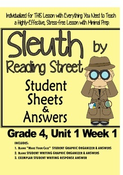 Sleuth, Reading Street, Gr. 4 Unit 1 Wk 1, Because of Winn-Dixie