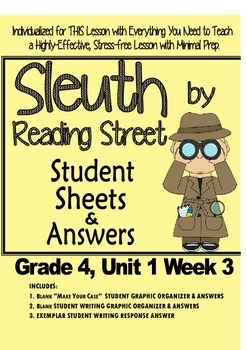 Sleuth, Reading Street, Gr. 4 Unit 1 Wk 3, On the Banks of Plum Creek