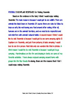 Sleuth, Reading Street, Gr. 4 Unit 1 Wk 5, Letters Home from Yosemite