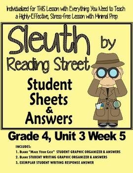 """Sleuth, Reading Street, Gr. 4 Unit 3 Week 5 """"Crater Lake""""  Paul Bunyan"""