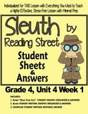 Sleuth Reading Street, Gr. 4, Unit 4 Wk 1, The Case of the Gasping Garbage