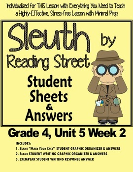 Sleuth Reading Street, Gr. 4 Unit 5 Wk 2, Lost City