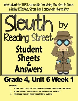 Sleuth Reading Street, Gr. 4 Unit 6 Wk 1, My Brother Martin