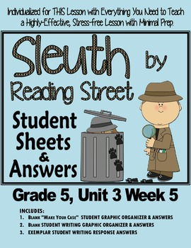 Sleuth Reading Street, Gr 5. Unit 3 Wk 5  Uncanny Valley,