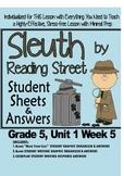 Sleuth Reading Street, Gr. 5, Unit 1 Wk 5, Ten Mile Day
