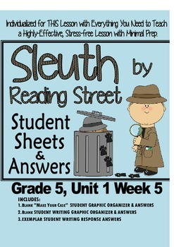 Sleuth Reading Street, Gr. 5, Unit 1 Wk 5, Ten Mile Day