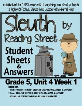 """Sleuth Reading Street, Gr. 5, Unit 4 Wk 1 Westlandia, """"A G"""