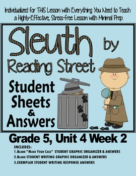 Sleuth Reading Street, Gr. 5 Unit 4 Wk 2, Tripping Over the Lunch Lady