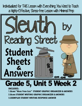 Sleuth Reading Street, Gr. 5 Unit 5 Wk 2, The Unsinkable W
