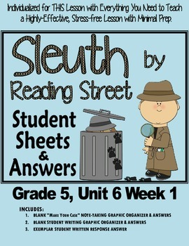 Sleuth Reading Street, Gr. 5 Unit 6 Wk 1, The Truth About Austin's Amazing Bats
