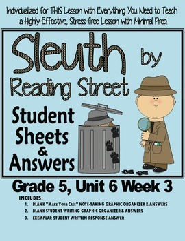 Sleuth Reading Street, Gr. 5 Unit 6 Wk 3, King Midas and t