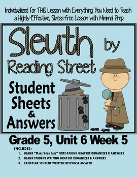 Sleuth Reading Street, Gr. 5 Unit 6 Wk 5, Sweet Music in Harlem