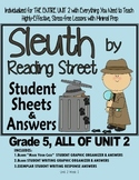Gr. 5, Reading Street, Sleuth Lesson Plans & Student Sheets for ALL of Unit 2