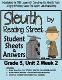 """Sleuth Reading Street, Gr. 5 Unit 2 Wk 2 Hold the Flag High, """"Price of Freedom"""""""