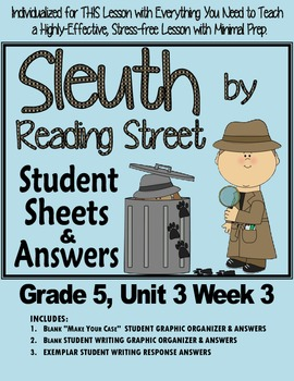 "Sleuth Reading Street, Gr 5. Unit 3 Wk 3 ""Bone & the Tooth"" Dinosaurs Waterhouse"