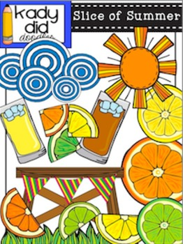 Slice of Summer {by Kady Did Doodles} Over 24 Color & BW images