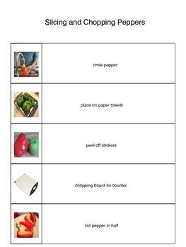 Sliced and Chopped Pepper Visual Recipe
