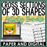 Cross Sections of 3D Figures Activity Pack
