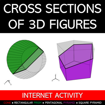 Slicing 3D Figures to Make 2D Cross-Sections Activity